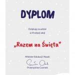 Dyplom Razem na Święta